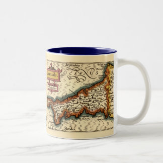 """""""Cornwaile"""" Cornwall County Map, England Mug"""
