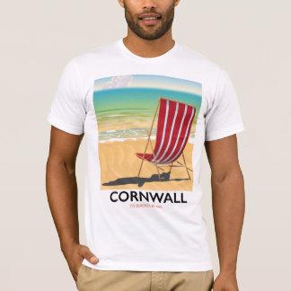 Cornwall beach classic travel poster T-Shirt