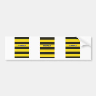 Cornwall Black and Gold Hoops Bumper Sticker