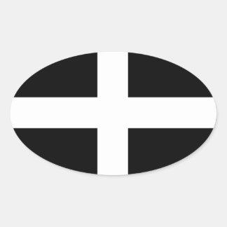 Cornwall - Cornish Flag / St. Piran's Oval Sticker