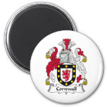 Cornwall Family Crest 2 Inch Round Magnet