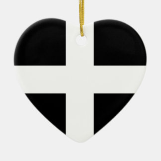 Cornwall flag..jpg ceramic heart ornament