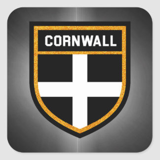 Cornwall Flag Square Sticker