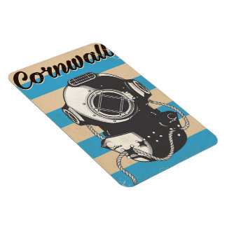 Cornwall Nautical travel poster Magnet