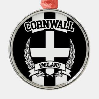 Cornwall Silver-Colored Round Ornament