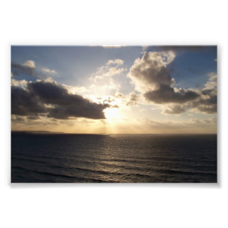 Cornwall Sunset Near Saint Agnes Poldark Country Photo Print