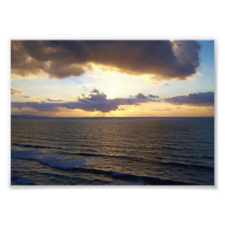 Cornwall Sunset Near Saint Agnes Poldark Country Photographic Print