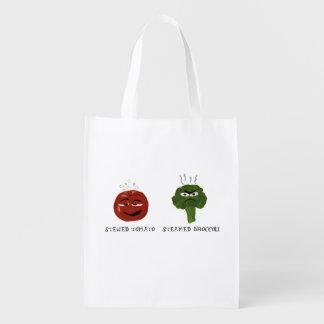 Corny Funny Vegetable Puns Veggie Grocery Bag