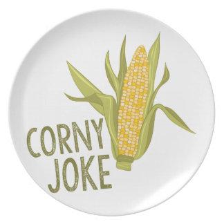 Corny Joke Plate