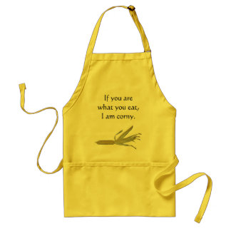 Corny photo apron