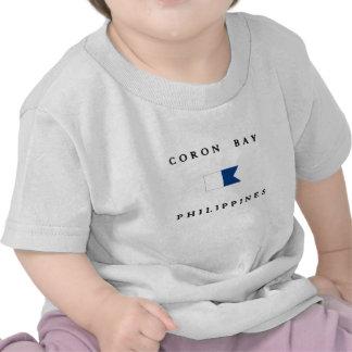 Coron Bay Philippines Alpha Dive Flag Tee Shirt