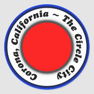Corona CA Circle City Luggage Label Travel sticker