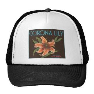 Corona Lily Fruit Crate Label Mesh Hats