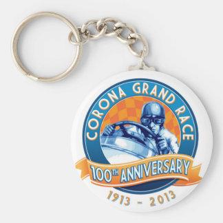 Corona Road Races 100th Anniversary Basic Round Button Keychain