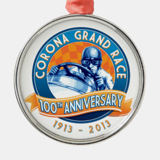 Corona Road Races 100th Anniversary Metal Ornament