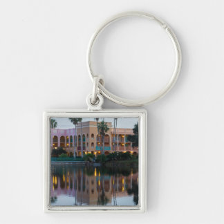 Coronada Springs Reflections Silver-Colored Square Keychain