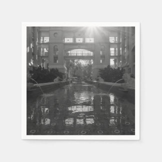 Coronado Sunburst Grayscale Disposable Napkins