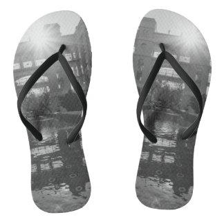 Coronado Sunburst Grayscale Flip Flops