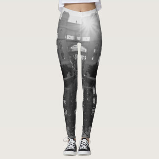 Coronado Sunburst Grayscale Leggings
