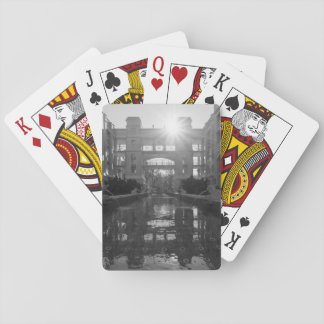 Coronado Sunburst Grayscale Playing Cards