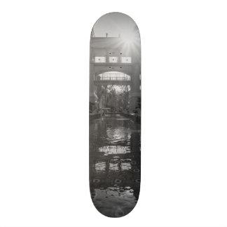 Coronado Sunburst Grayscale Skateboard