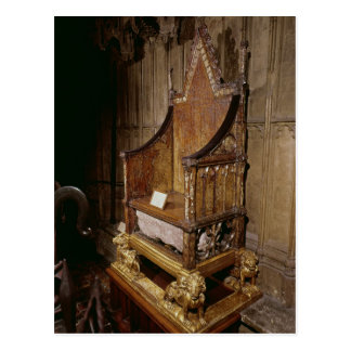 Coronation chair made for Edward I by 'Walter' Postcard