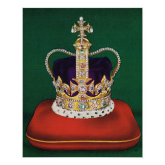Coronation crown of England Poster