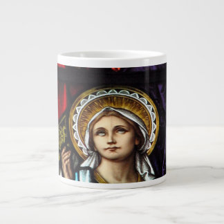 Coronation of Blessed Virgin Mary Stained Glass Large Coffee Mug