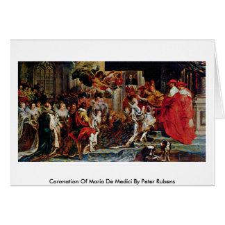 Coronation Of Maria De Medici By Peter Rubens Card