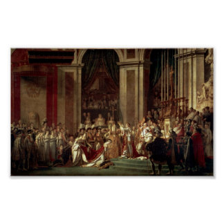 Coronation of Napoleon by Jacques-Louis David Poster