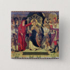 Coronation of Pope Celestine V  in August 1294 2 Inch Square Button