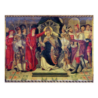Coronation of Pope Celestine V  in August 1294 Postcard