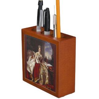 Coronation of Queen Victoria Painting Desk Organizer