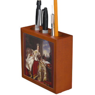 Coronation of Queen Victoria Painting Pencil Holder