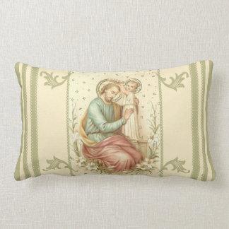 Coronation of St. Joseph by Jesus Lumbar Pillow