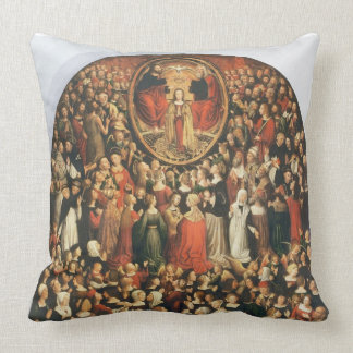 Coronation of the Virgin, 1513 (oil on panel) Throw Pillow