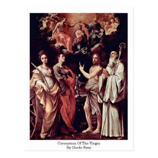 Coronation Of The Virgin By Guido Reni Postcard