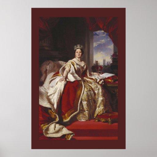 Coronation Portrait of Queen Victoria Posters