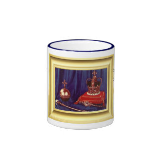 Coronation Regalia of Queen Elizabeth II Ringer Coffee Mug