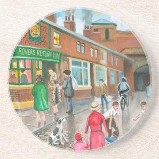 Coronation Street oil painting Drink Coaster