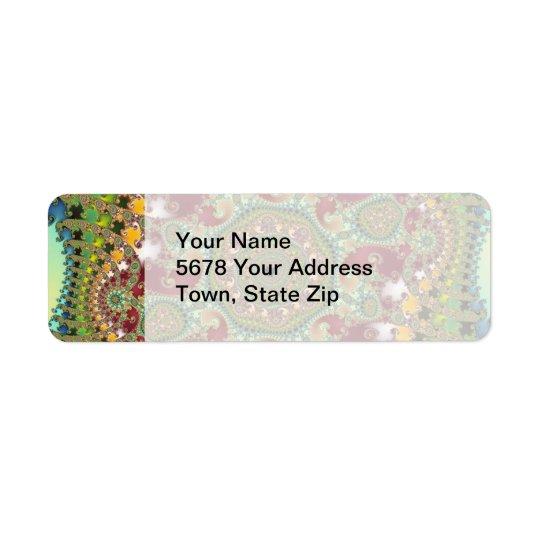 Coronel - Fractal Return Address Label