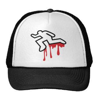 Coroner outline  dead body murder hats