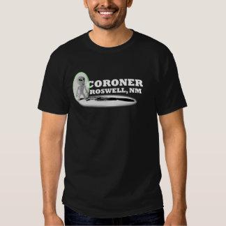 "Coroner, Roswell, Black ""T"" Tee Shirts"