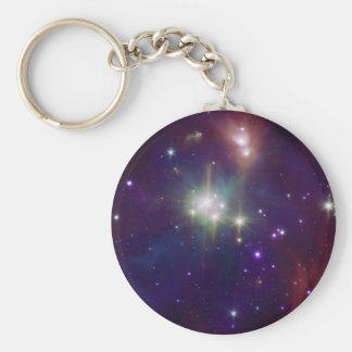 Coronet infrared star cluster NASA Keychain