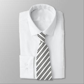 Corporate Black Striped Pattern Tie