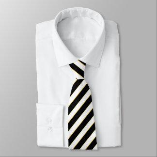 Corporate Black & White Striped Tie