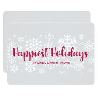 Corporate Business Happiest Holidays Flat Card