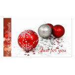 Corporate Business Holiday Gift Certificates Business Cards