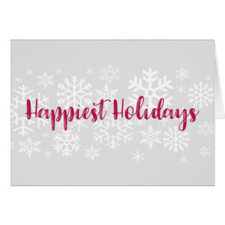 Corporate Business Snow Happiest Holidays Card