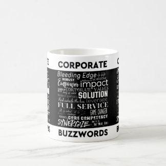 Corporate Buzzwords Business Jargon Typography Art Coffee Mug